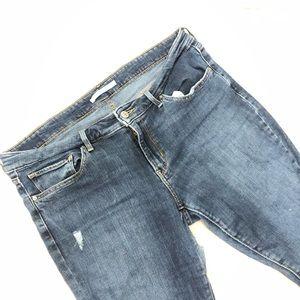Dark-wash Levi's jeans